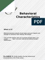 Behavioral Characterstics