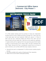 Commercial Office Space for Rent in Electronic City Phase I Bangalore