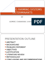Analyzing Farming Systems Determinants