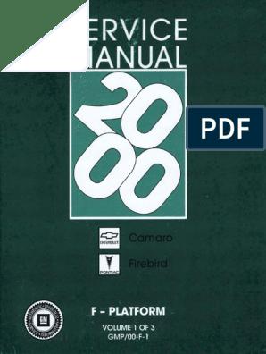 2000 Chevrolet Camaro & Pontiac Firebird Service Manual