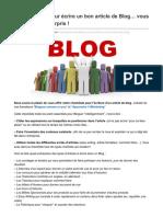 Conseilsmarketing.com-La Checkliste Pour Écrire Un Bon Article de Blog Vous Risquez Dêtre Surpris