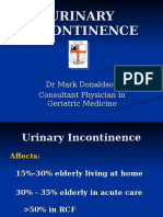 Urinary Incontinence - Tutorial by m Donaldson