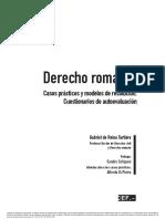 De Reina, Derecho Romano (Madrid, 2014)