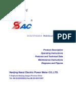 DSSD - DTSD2818 Multifunction Meter - Operating Instructions