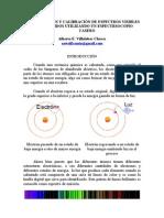 DIGITALIZACIÓN Y CALIBRACIÓN DE ESPECTROS VISIBLES OBTENIDOS UTILIZANDO UN ESPECTRSOCOPIO CASERO