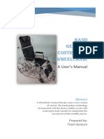Ins Manual for Hand Gesture Controlled Wheelchair