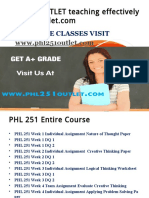 PHL 251 OUTLET teaching effectively / phl251outlet.com