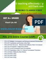 POL 215 AID teaching effectively / pol215aid.com