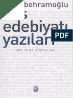 Ataol Behramoğlu. Rus Edebiyatı Yazıları