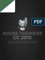 Adobe Premiere CC 2015 Windows Cheat Sheet