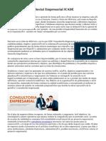 Nace Consultoría Social Empresarial ICADE
