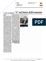 """Una doppia """"U"""" nel futuro dell'economia - Il Corriere Adriatico del 12 aprile 2016"""