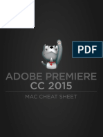 Adobe Premiere CC 2015 Mac Cheat Sheet