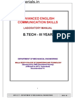 Advanced Communication Skills Lab Manual