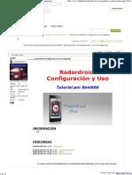GPS Android Radardroid_ Configuración y Uso [Imágenes]