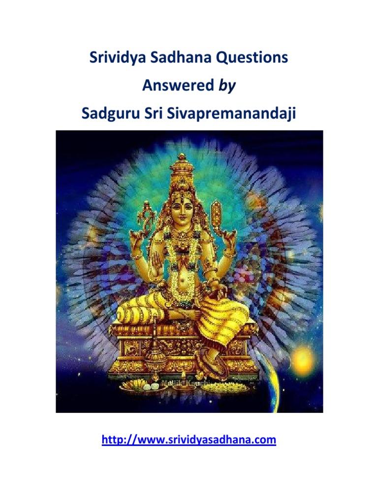srividya-sadhana-ebook pdf | Kundalini | Mantra