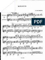 Minuetto de Boccherini Para 2 Guitarras