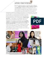 Resumen Texto Yo Soy Malala, Marcelino Pan y Vino, Colmillo Blanco, Mujercitas