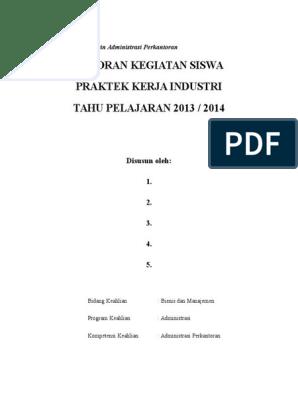 Contoh Format Laporan Pkl Administrasi Perkantoran Seputar Laporan