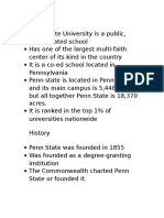 penn state research project