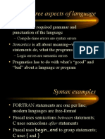 Part 3 - Syntax, Semantics and Pragmatics