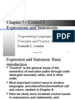 Part 4 - Expressions and Statement