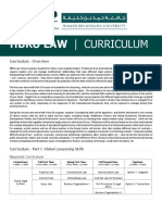 HBKU Law Curriculum