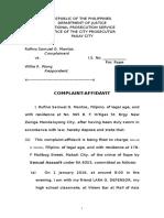 Sample Complaint; Complaint Affidavit; Medico Legal Certificate (1)