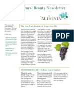 Authenta Natural Beauty Newsletter Volume 1 Issue 1