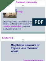 LEX Lecture 3 Morphemic Structure