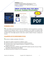21.Measurement System Analysis (MSA) Course Outline