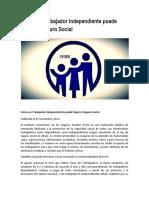Cómo Un Trabajador Independiente Puede Pagar El Seguro Social