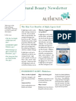 Authenta Natural Beauty Newsletter Volume 1 Issue 2
