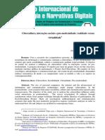 Cibercultura, Interações Sociais e Pós-modernidade- Realidade Versus