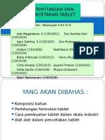 Kel 4 Perhitungan Dan Pencetakan Tablet