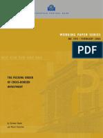 Daude, Fratzscher - The Pecking Order of Cross-Border Investment - ECB - February 2006