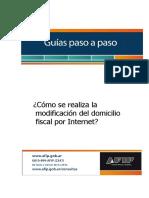 Guía Modificacion Domicilio Fiscal