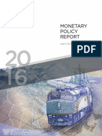 Monetary Policy Report April 2016
