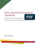 Post Acquisition Integration Handbook 2011