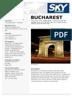Travel guide Bucharest En