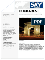 Travel guide Bucharest En