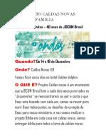 Projeto Jocum Familia