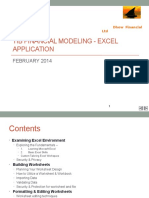 Financial modelling in Excel