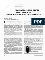 Use of Dynamic Simulation to Converge