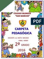 CARPETA PEDAGOGICA 2° nuevo
