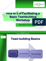 Facilitating a Basic Team Building Workshop
