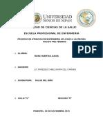 PROCESO DE ATENCION DE ENFERMERIA APLICADO A UN RECIEN NACIDO PRE-TERMINO