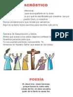 Acróstico de Semana Santa