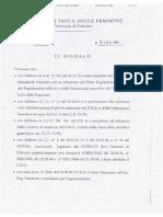 URBANISTICA 1999 25 FEBBRAIO SINDACO STEFANO BOLOGNA PRG ISOLA DELLE FEMMINE PROTOCOLLO 2667