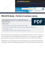 PES 2016 Guide - Full List of Real Team Names - VideoGamer.com